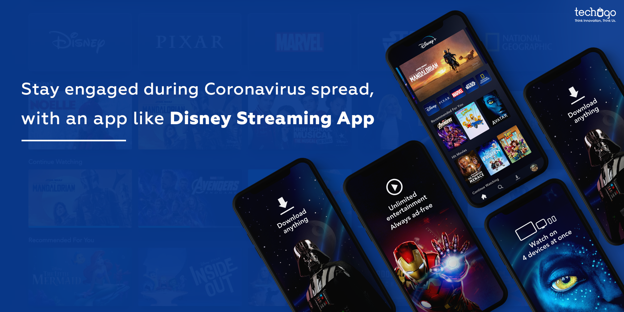 Stay Engaged During Coronavirus Spread, With An App Like Disney Streaming App