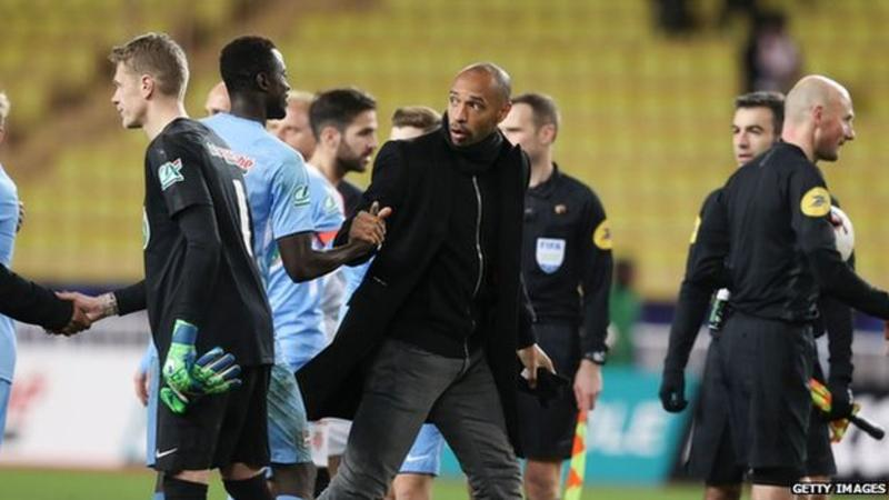 Monaco sacks manager Thierry Henry after three months in charge