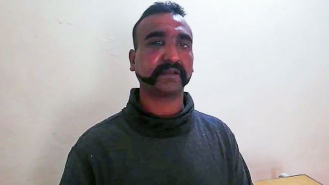 Abhinandan: Crowds gather for Indian pilot